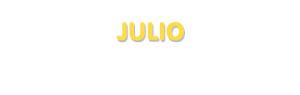 Der Vorname Julio