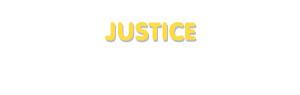 Der Vorname Justice