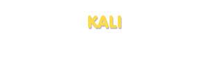 Der Vorname Kali