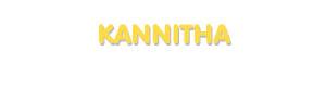 Der Vorname Kannitha