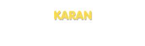 Der Vorname Karan