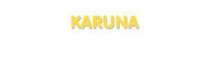 Der Vorname Karuna