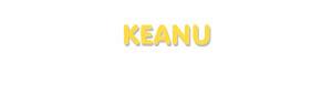 Der Vorname Keanu