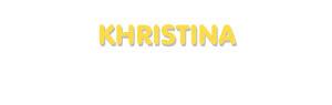 Der Vorname Khristina