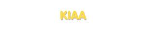 Der Vorname Kiaa