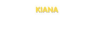 Der Vorname Kiana