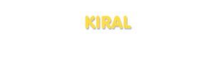 Der Vorname Kiral