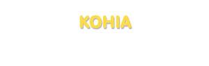 Der Vorname Kohia