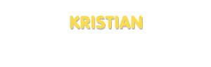 Der Vorname Kristian