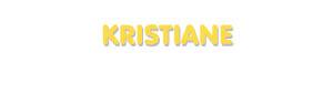 Der Vorname Kristiane