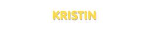Der Vorname Kristin