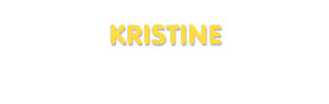 Der Vorname Kristine