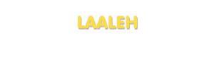 Der Vorname Laaleh