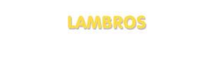 Der Vorname Lambros