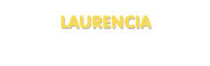 Der Vorname Laurencia