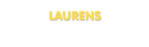 Der Vorname Laurens