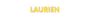 Der Vorname Laurien