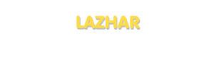 Der Vorname Lazhar