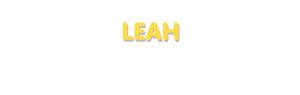 Der Vorname Leah