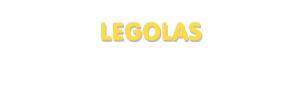 Der Vorname Legolas