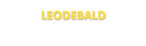 Der Vorname Leodebald