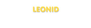 Der Vorname Leonid