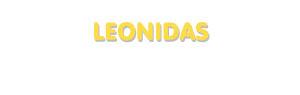 Der Vorname Leonidas