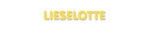 Der Vorname Lieselotte
