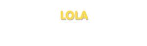 Der Vorname Lola