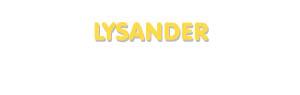 Der Vorname Lysander