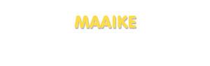 Der Vorname Maaike