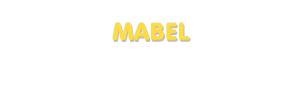 Der Vorname Mabel