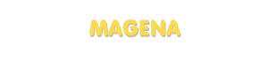 Der Vorname Magena