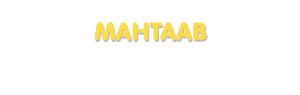 Der Vorname Mahtaab