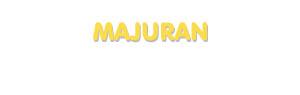 Der Vorname Majuran