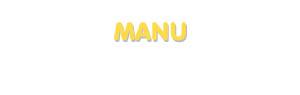 Der Vorname Manu
