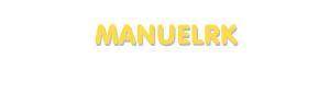 Der Vorname Manuelrk