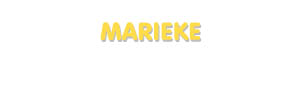 Der Vorname Marieke