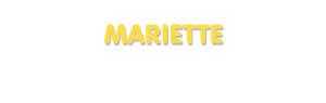 Der Vorname Mariette