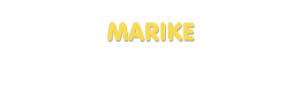 Der Vorname Marike