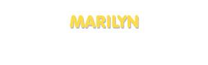 Der Vorname Marilyn