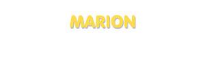 Der Vorname Marion