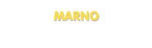 Der Vorname Marno