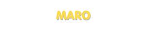Der Vorname Maro