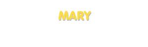 Der Vorname Mary