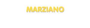 Der Vorname Marziano