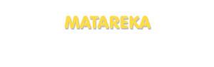 Der Vorname Matareka