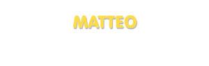 Der Vorname Matteo