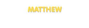 Der Vorname Matthew