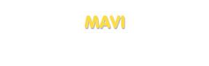 Der Vorname Mavi